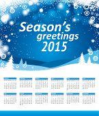 seasons greetings 2015 calendar