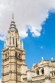 Bell Tower of Cathedral in Toledo Spain