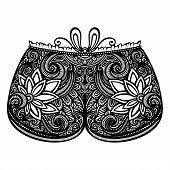 Vector Decorative Ornate Women's Shorts