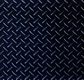 Texture of a dark metal diamond pattern plate.