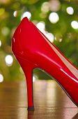 Christmas red high heel