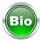 bio icon, green button