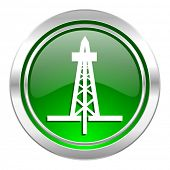 drilling icon, green button