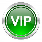 vip icon, green button
