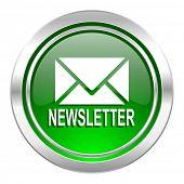 newsletter icon, green button