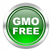 gmo free icon, green button, no gmo sign