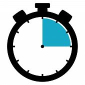 Stoppuhr Icon: 15 Minutes 15 Seconds / 3 Hours