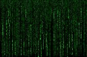 Постер, плакат: Matrix Background With The Green Symbols