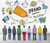 DIverse People Rear View Marketing Brand Concept