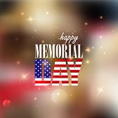 Holiday blurred background with sparkles. 4th of July. Happy memorial day
