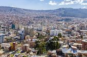 LA PAZ, BOLIVIA, MAY 8, 2014: General view of city from a view point