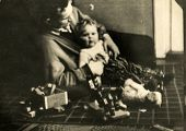 GERMANY, DECEMBER 25, 1938: Father plays with a little daughter