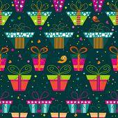 Seamless gift  pattern, vector illustration