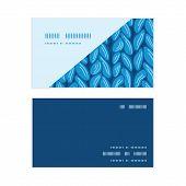 Vector knit sewater fabric horizontal texture horizontal corner frame pattern business cards set