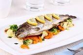 Grilled Whole Trout With Vegetables