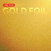 Vector gold foil background. Golden foil texture.
