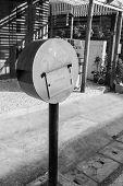 Circle Red Mailbox