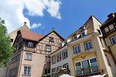 old-fascioned Fachwerk  hauses in Strasburg, France