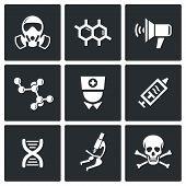Epidemic Protection Icons Set