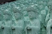 Identical Statues in Buddhist Temple