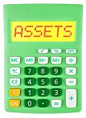 Calculator With Assets On Display