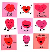 Valentines Day Hearts cartoons