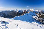 Tatra mountains in snowy winter time, Kasprowy Wierch, Poland