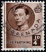 GRENADA - CIRCA 1940: A stamp printed in Grenada shows King George VI circa 1937