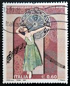 ITALY - CIRCA 2007: A stamp printed in Italy dedicated to Anniversary Festival of the Two Worlds