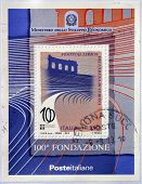 ITALY - CIRCA 2013: A stamp printed in Italy dedicated to Arena di Verona Festival circa 2013