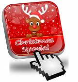 Button Christmas Special with reindeer and Cursor