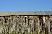 pic of tobacco barn  - Detail of an old tobacco farm facade - JPG