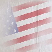 old vintage paper texture with the united states of america flag