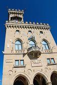 The Palazzo Pubblicco In San Marino. The Republic Of San Marino