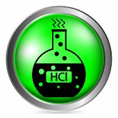 Laboratory Glass With Hydrochloric Acid Button