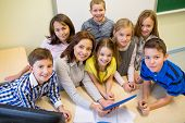 stock photo of children group  - education - JPG