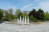 Fountain on Campus