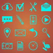 web icons set for web and mobile applications