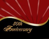 stock photo of 50th  - Illustration composition red - JPG