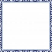 Patterned Frame With Blank Paper - Copy Space