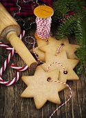 Christmas Baking. Gingerbread Cookies