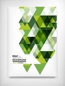 Geometric abstract business template, modern showroom page design