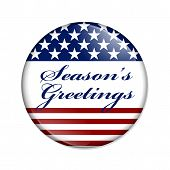 Season's Greetings Usa Button