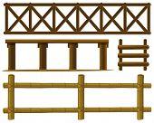 pic of log fence  - Illustration of different design of fences - JPG