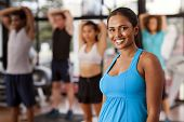 Young Indian Woman In A Gym