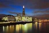 Cityscape Of London At Night
