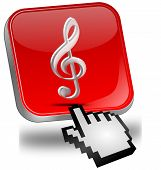 Music Button with cursor