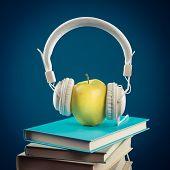 Apple With Headphones