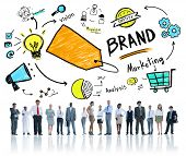 Diverse Corporate Business People Brand Concept