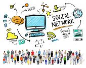 Social Network Social Media Diversity People Community Concept